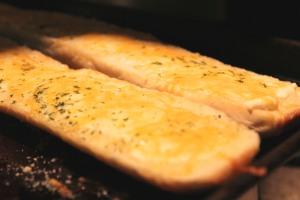 Cheesy Garlic Bread with Jimmy John's Bread.