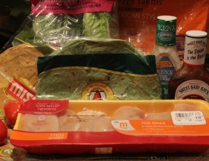 Ingredients for wraps