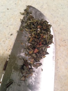 Chopped Rosemary. I love that smell.