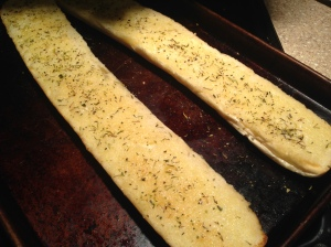 Garlic bread on the side.