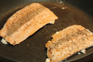 Cooking quickly in the pan