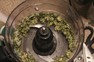 Pulsing Pesto components