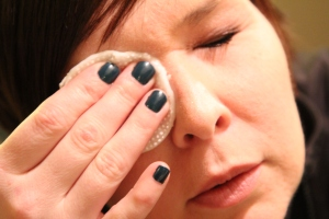 Using the Natural Makeup Remover on my Right Eye.