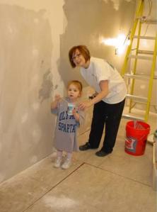 My painting helper!
