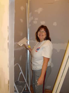 My mom - the do anything lady! She helped with drywall, mudding, you name it!