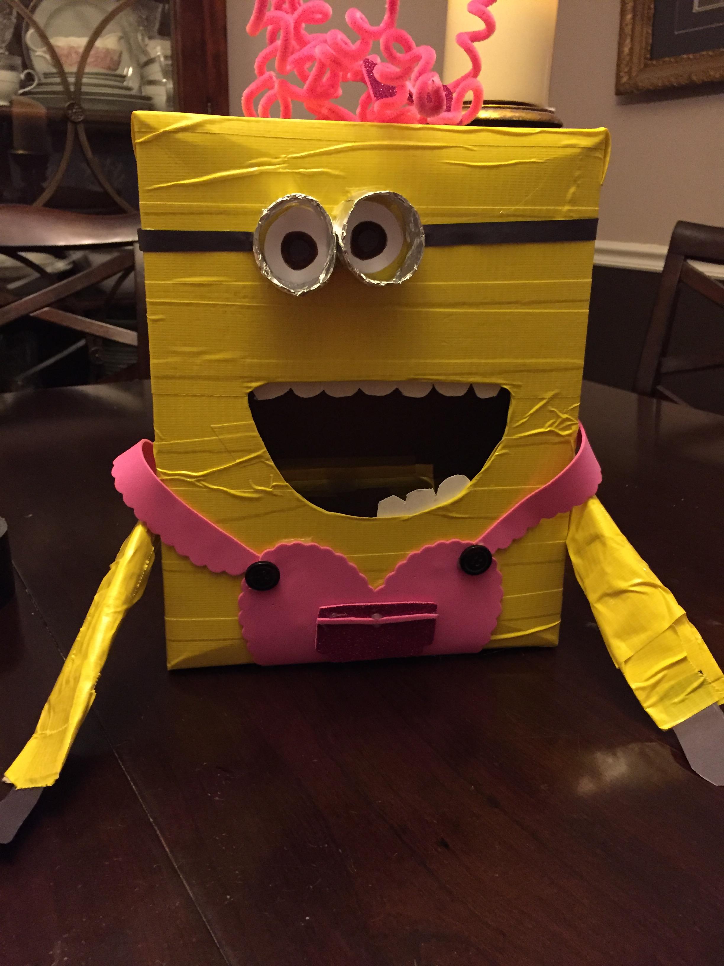 Minion Valentine Box For My Little Minion