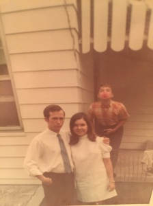 One of my favorite photos ever! My mom and dad on their wedding day and my uncle Mike photo bombing in the background!